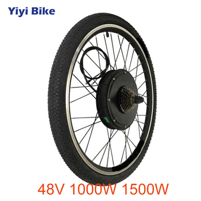 "48V 1000W 1500W Electric Bicycle Motor wheel High Speed Brushless non-gear Hub Motor Rear Front 26"" 27.5 28"" 29 700C Wheel Motor"