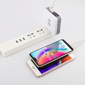 Image 5 - 3 ב 1 צ י אלחוטי מטען טעינת סוג C 2 USB נסיעות תקע כוח בנק עם דיגיטלי מסך עבור iPhone 8 Xs Max XR סמסונג VIVO