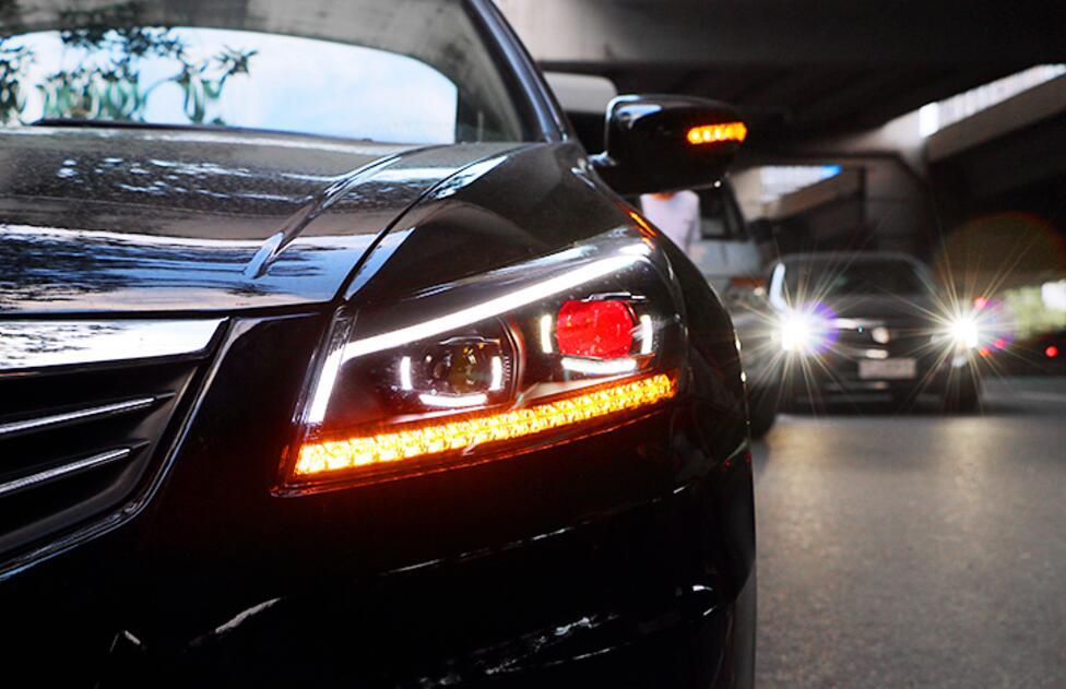 LED Phares Pour Honda Accord 2008-2012 Voiture LED Lumières Double Lentille Xénon Voiture Accessoires Feux de jour Brouillard lumière