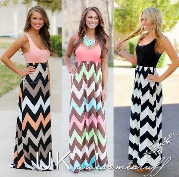 Vestido de verano  de estilo largo vestido de fiesta vestido de tirantes ocasion