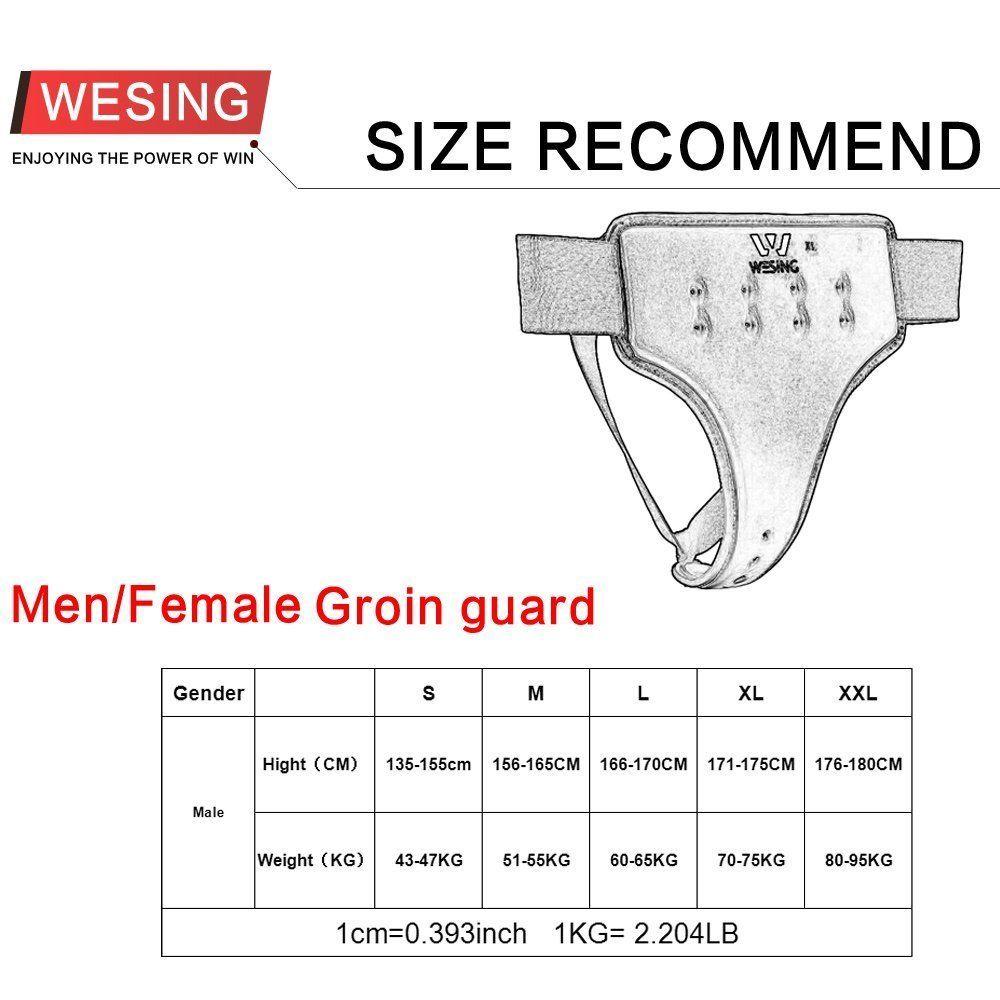 Wesing каратэ пах охраны, утвержденных wkf мужские белый промежности Протектор Дышащий Большой размер XL
