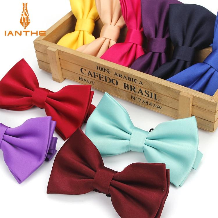 Bow Tie For Men 2018 Classic Gravata Solid Novelty Mens Adjustable Tuxedo Brand Wedding Necktie Ties Gravatas Corbatas Butterfly