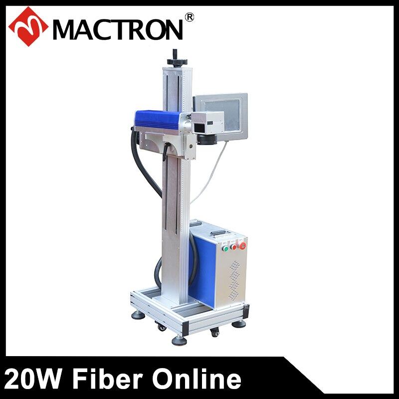 Macchina di marcatura del cavo del laser della fibra di volo 20W per - Attrezzature per la lavorazione del legno - Fotografia 1