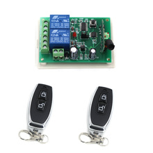 Dc12v/24ボルトワイヤレスリモートコントロールスイッチシステムラジオ制御スイッチ2 chリレー受信機+ 2トランスミッタ用モーターledランプ