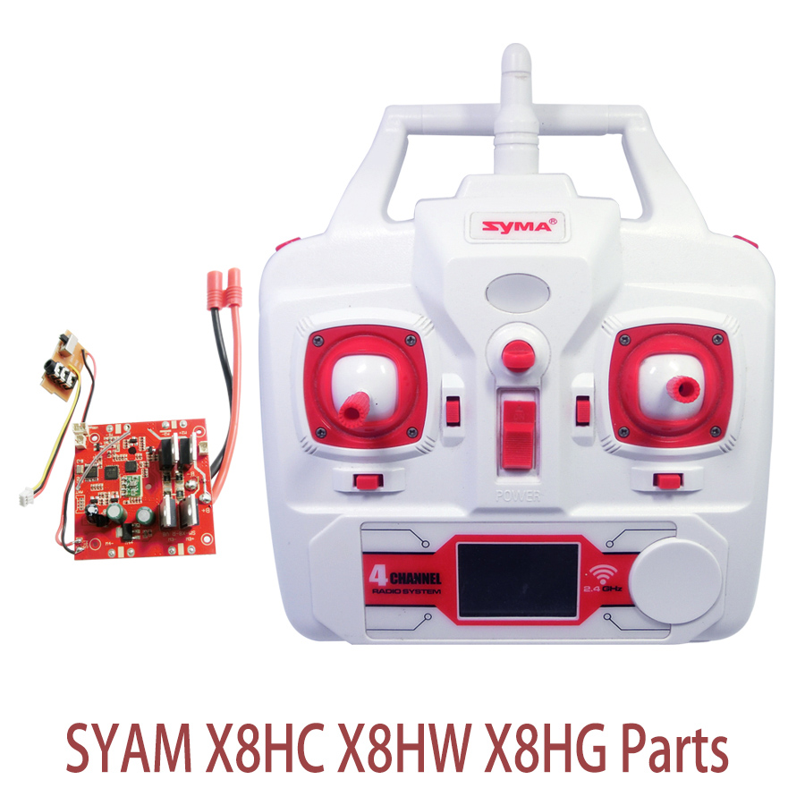 Syma X8HC Set High Mode PCB Circuit Board Receiver And Transmitter Remote Controller Spare Parts For X8HW X8HG RC Helicopters nine eagles 770b 772b parts ne4615001 receiver set 2 ne 770b spare parts track shipping