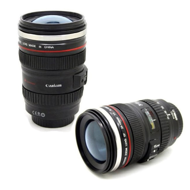 Free shipping coffee mug 24-105mm 1:1 camera lens SIX generation of creative emulation mug (with lid)