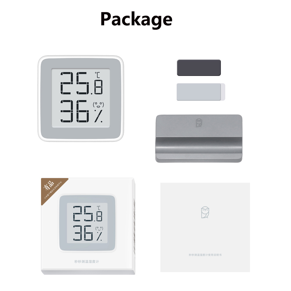 Xiaomi MiaoMiaoCe E-Link INK Screen Display Digital Moisture Meter High-Precision Thermometer Temperature Humidity Sensor H10 (16)