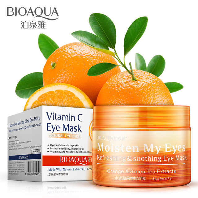 36 Pair BIOAQUA Vitamin c Orange Essence Eye Masks Moisturizing Ageless Unti Eye Dark Circle Eye Skin Care Mask