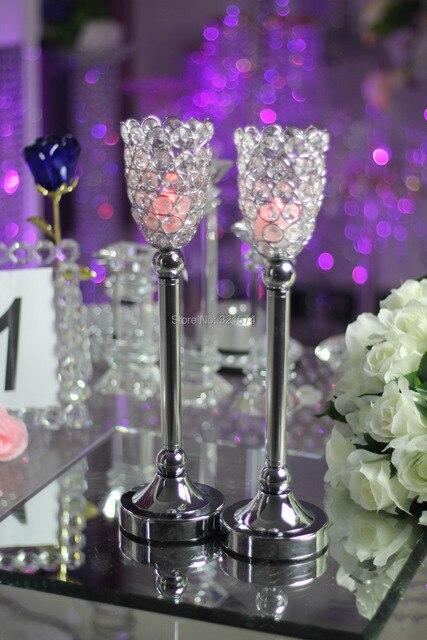 Kristall Kerzenhalter Metall Silber Kerzenhalter Laterne Votice