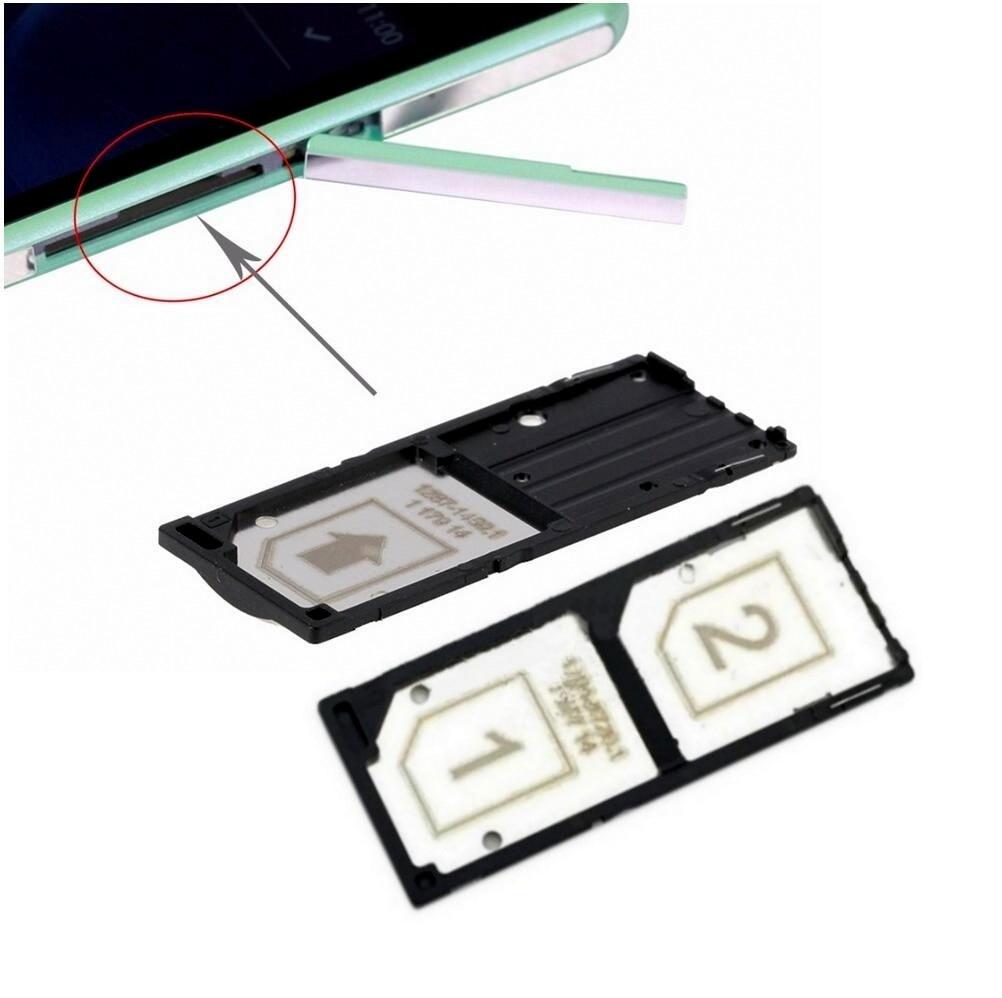 Genuine Single & Daul Sim Card Tray Holder For Sony Xperia C3 S55T S55U Sim Card Slot Tray For Sony C3 Sim Card Reader Holder