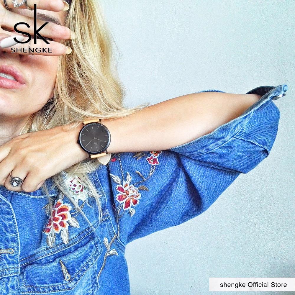 Shengke μάρκα νέα μόδα απλό στυλ κορυφή - Γυναικεία ρολόγια - Φωτογραφία 2