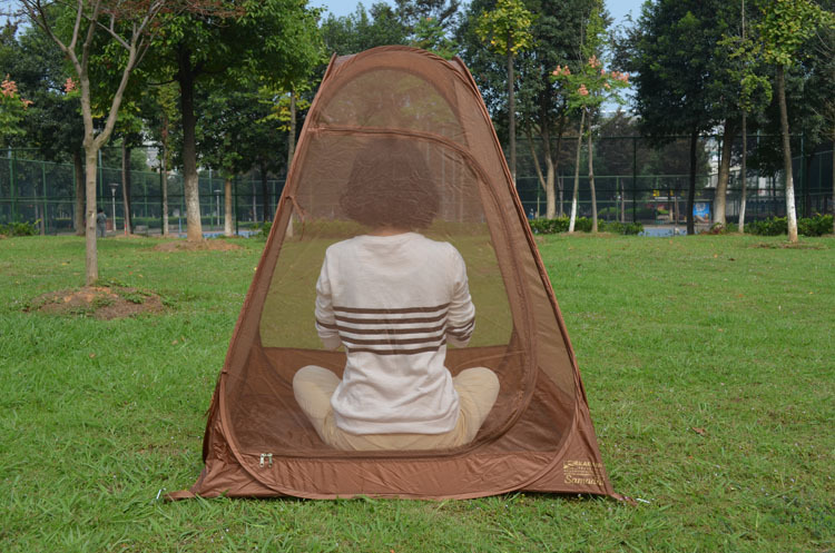 Hot on sale single person automatic speed to open anti mosquito net tentpop up tent automatic sit in meditation tentyoga tent-in Tents from Sports ... & Hot on sale single person automatic speed to open anti mosquito ...