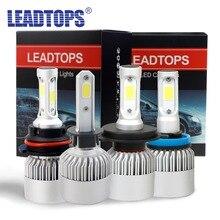 LEADTOPS LED H4 H7 H11 H1 H13 H3 9004 9005 9006 9007 LED Car Headlight Bulb Hi-Lo Beam 72W 8000LM 6500K Auto Headlamp 12v EC