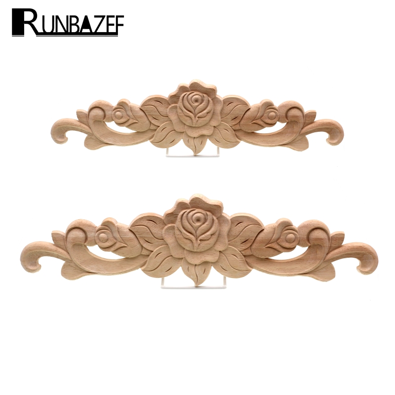 The Unpainted Wood Carving Stamp Applique Decorative Crafts Furniture Closet Door Frame
