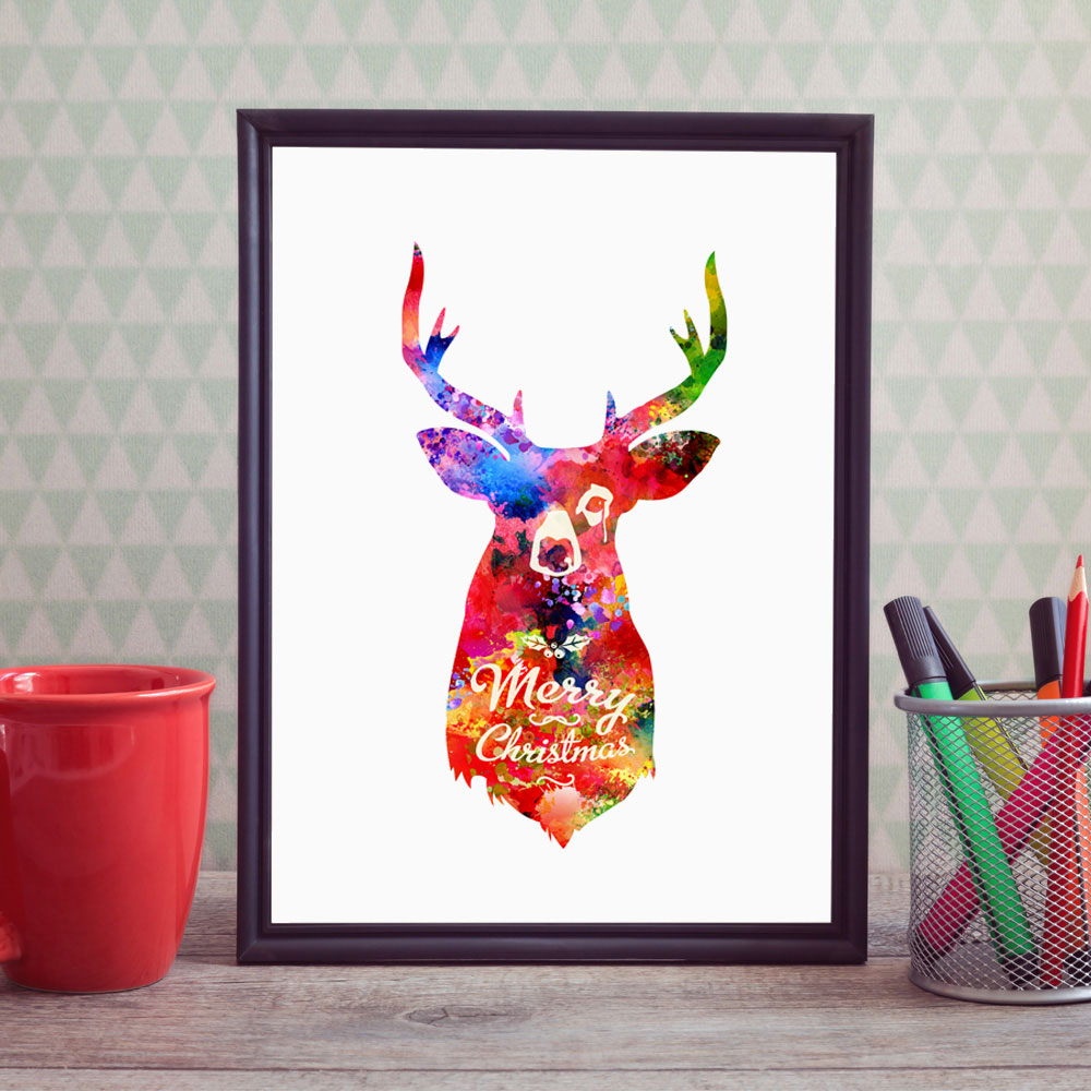 Deer Art Print Pictures Deer Quotes Nordic Europe Home ...