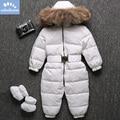 Детские зимние комбинезоны с натуральным мехом енота на-30 градусов  детские зимние комбинезоны  лыжный костюм на белом утином пуху  верхняя ...