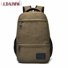 2a82632c27d7 Ldajmw человека холст рюкзак сумка мужской Повседневное Холст компьютер  рюкзак большой Ёмкость модные дорожная сумка студент