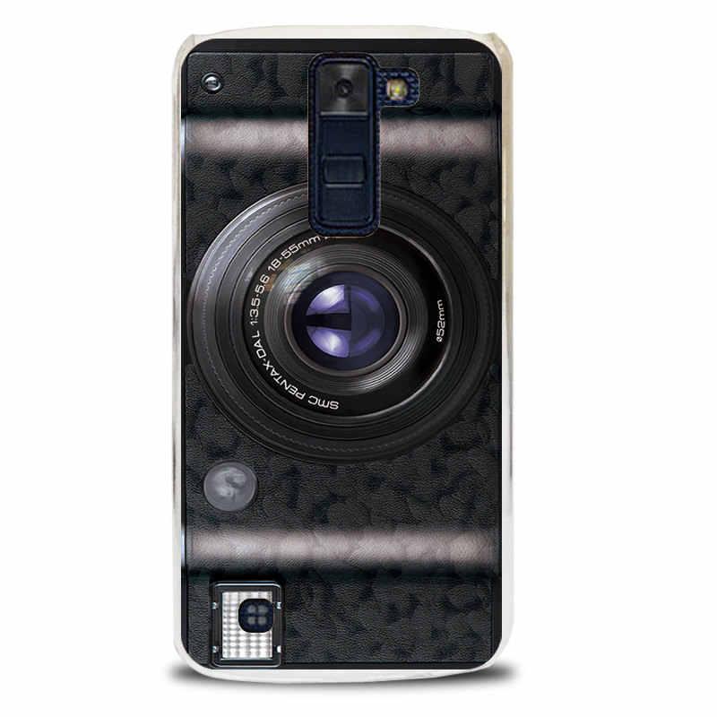 """ل LG K8 حالة الفاخرة الكرتون حالة ل LG K8 Lte K350 K350E K350N 5.0 """"K 8 الصلب البلاستيك واقية الهاتف قذيفة الغطاء الخلفي الجلد"""