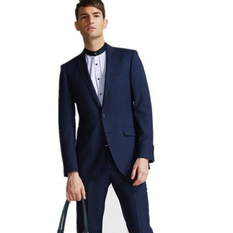 Hot Selling Fashion Style Groom Tuxedos Men Suit Blue