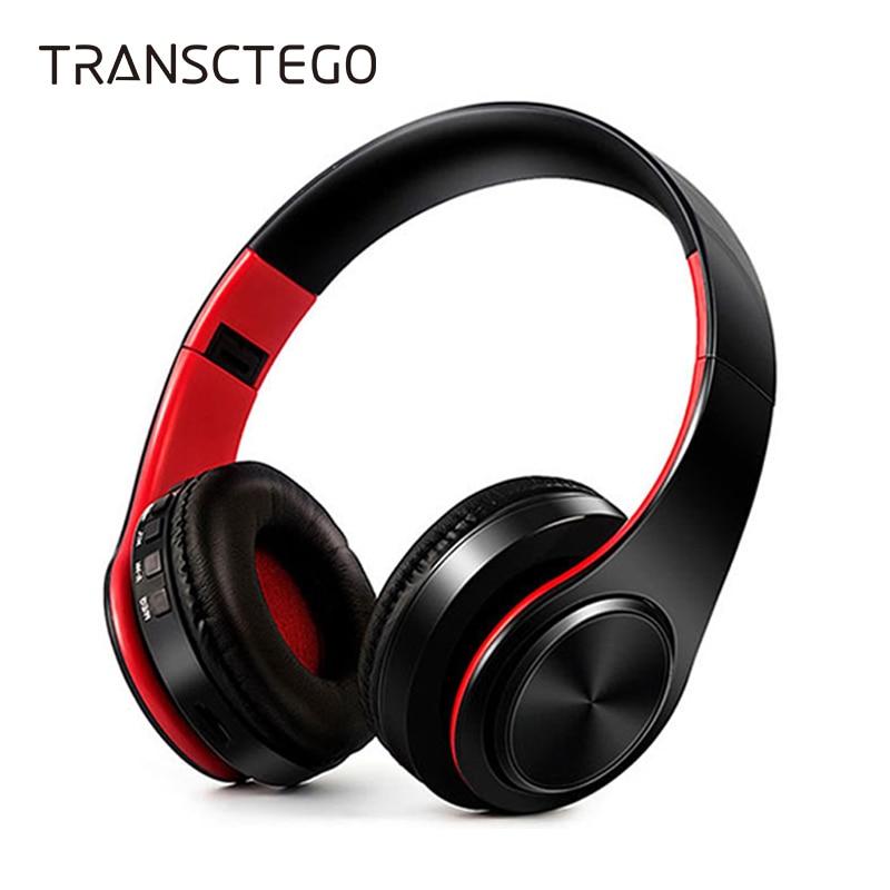 TRANSCTEGO Cuffia Wireless Bluetooth 4.1 Stereo Bluetooth Auricolare radio FM TF card solut per le chiamate Auricolare