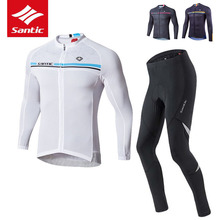 Bicycle Jersey Clothing-Set Santic Bike Pro-Team Ropa-Ciclismo Men 4d-Pad Breathable
