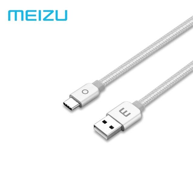 Оригинал Meizu Тип-C металлический кабельный 2A быстрой зарядки нейлоновая оплетка 1,2 м для Meizu M6 Примечание samsung Xiaomi Tablet телефонах Android