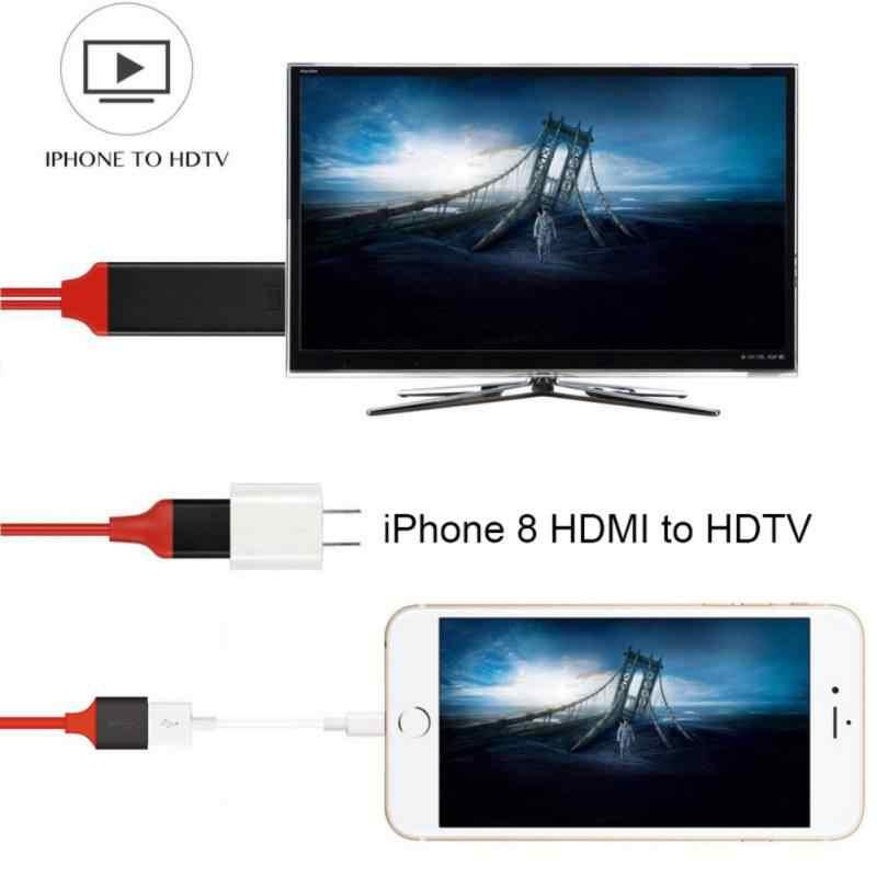 Новейший Full HD 1080 P HDMI Кабель-адаптер для iPhone 8X7 6s Plus iPad tv Xiaomi Android телефоны к HDMI адаптер