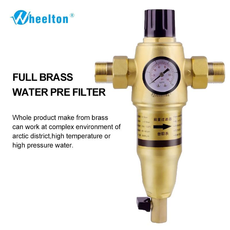 Предварительный фильтр для воды первый шаг система очистки воды 59 латунь 40-60micron сетка из нержавеющей стали prefiltro Бесплатная доставка
