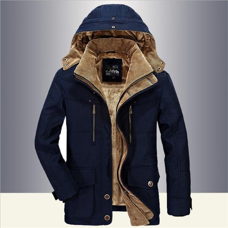 Military Thick Warm Jacket Winter   Parkas   Men Casual Cotton Padded Jacket men Plus Size 5XL Multi-Pocket   Parkas   Hombre Invierno