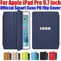 Последним официальный Smart Case Для Apple iPad Pro 9.7 дюймовый Ультра тонкий ИСКУССТВЕННАЯ Кожа Флип Чехол Для iPad Pro IPRS3