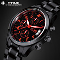 Luminous Men Watch Casual Brand Sport Watch Quartz Waterproof Stainless Steel Chronograph Hour Clock Military Army Fashion Watch