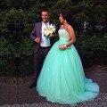 Vestidos феста Vestido лонго зеленый лайм с вечерние платья ну вечеринку элегантный 2015 сшитое дешевые пром платье
