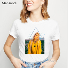 American singer billie eilish t shirt women tshirt 2019 summer top 90s hipster streetwear female vogue t-shirt korean