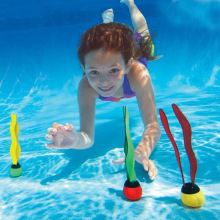 baby kids swimming snorkel swimmer pool accessories water toy underwater toys Diving stick seaweed sea funny