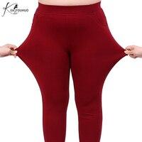 ผู้หญิงขนาดบวก2XL-6XLกางเกงยางยืด