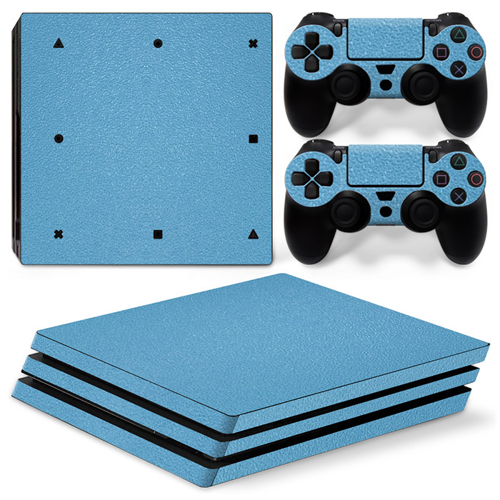 Blue Carbon Fiber Waterproof Skin Cover For PS4 Pro Games Console Sticker