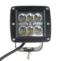 1 stück 3 inch 18 Watt 24 V 12 V 6 LEDs Arbeitslicht Scheinwerfer für SUV 4WD Offroad ATV Lkw Sattelzug Motorrad Boat Nebelscheinwerfer lichtbalken