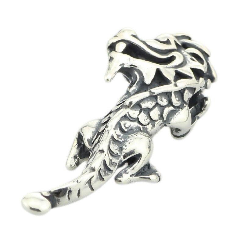 925 Sterling Silver Naughty Dragon Pendant Dangle Charm Fits European Troll 3.0mm Bracelet & Necklace Jewelry все цены