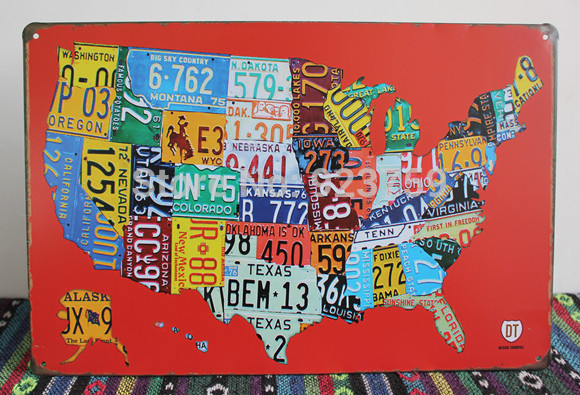 Online Get Cheap License Plate Map Aliexpresscom Alibaba Group - Map license plate us