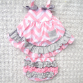 4Color Patchwork baby girls clothing set Summer style Sweet princess Sleeveless Baby girls Swing back Top set 0-2year