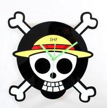One Piece Luffy Skull Clock
