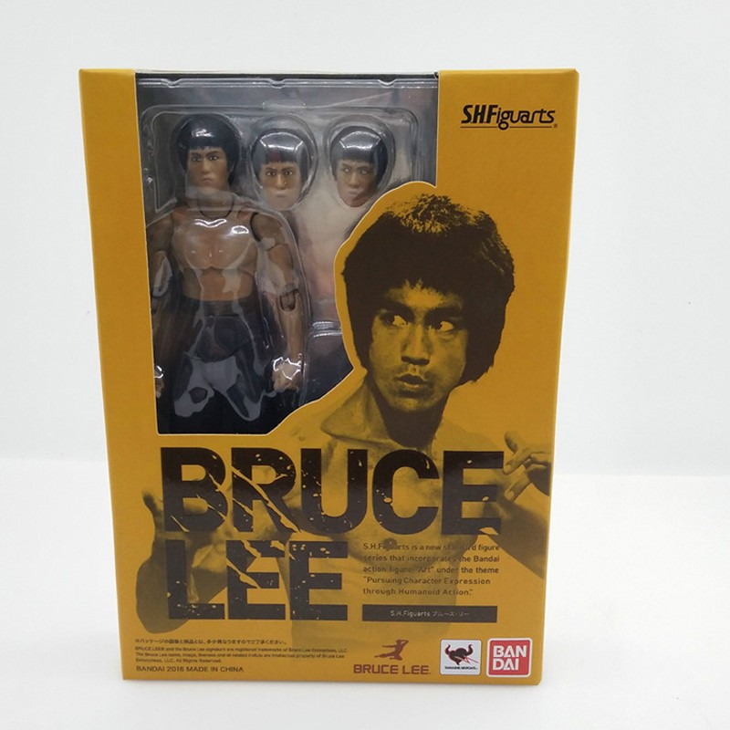 2 Type Bruce Lee Figure Variant SHF S.H.Figuarts With Nunchaku PVC Action Figures  In Box (11)