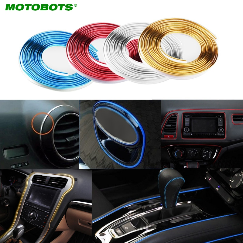 MOTOBOTS 1X 300m/Roll Car Interior Dashboard Panel Gap Flexible Embedded Edge Gap Line Point Molding Garnish red,blue,gold #4017 майка gap gap 15