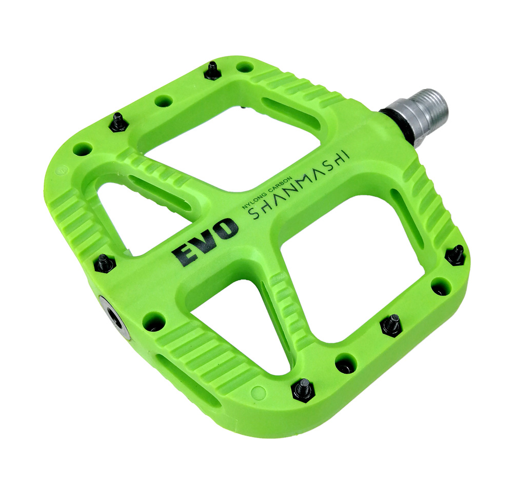Nylon Carbon 5 Colpurs MTB Bicycle Pedal BMX Pedals Large Comfortable Multi color Optional Mountain Bike Accessories in Bicycle Pedal from Sports Entertainment
