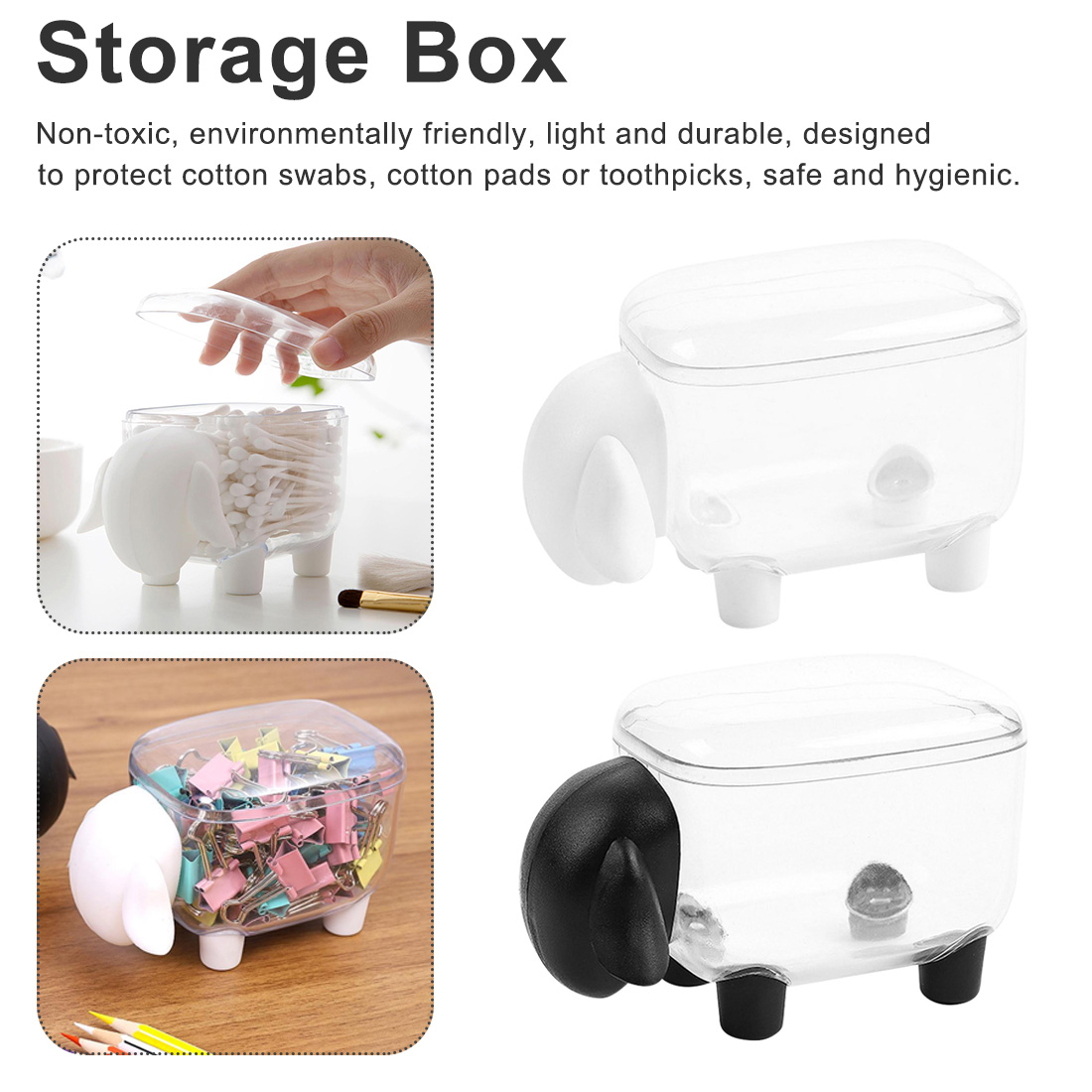 Organizer Storage-Box Creative Plastic Toothpick Home-Table-Decor Sheep-Shaped