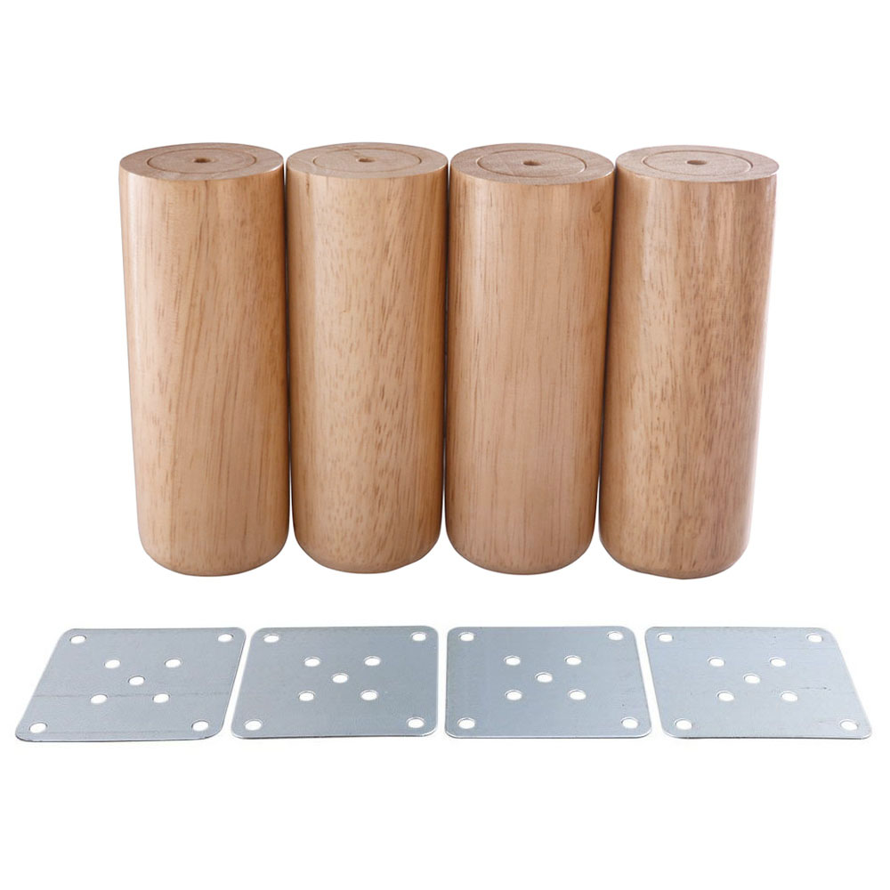 6x12CM Round Wooden Material Sofa Chair Bed Cupboard Tea Table TV Cabinet Furniture Legs Feet Pack Of 4 In Cups From Home Improvement On