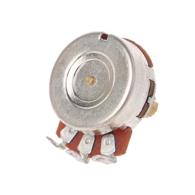 A250K/B250K Brass Short Split Shaft Audio Potentiometer For Electric Guitar Bass