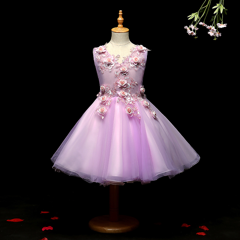 2018 winter girls party dress carnival princess prom dress kids tutu clothes ball gowns kids infant dress children costume шорты sela sela se001empop66