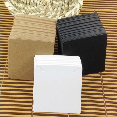 Hot-White-6-5x6-5cm-Kraft-Pendant-Card-Necklace-tag-Card-1lot-100-card-100-opp
