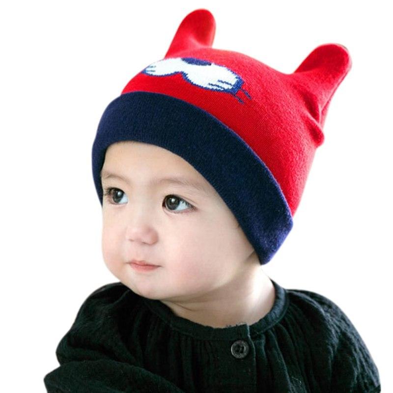 1c53359a06d ... winter warm baby girls boy toddler fashion knitted cute crochet hat  tiger pattern cap kids cap ...